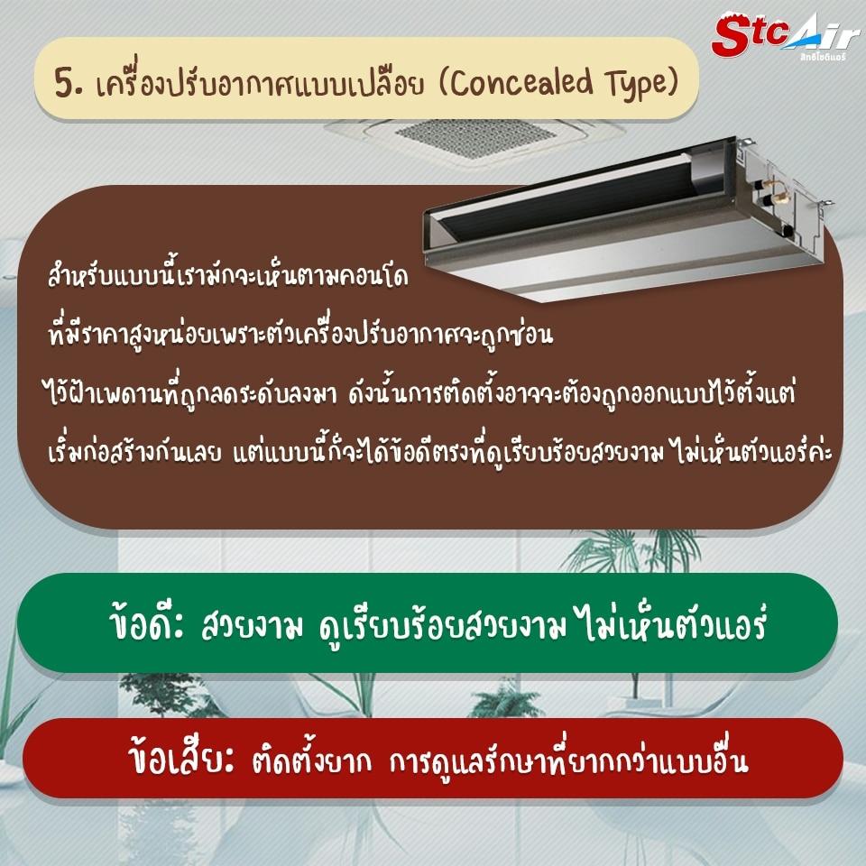 6 ประเภทแอร์ 6 types of air conditioners